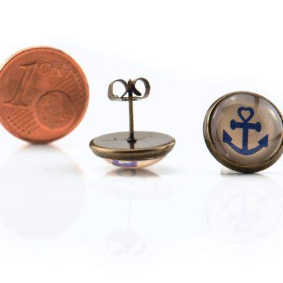 Maritime Ohrringe Anker Beige