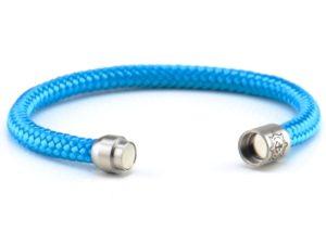 Armband aus Segeltau, Damen, blau