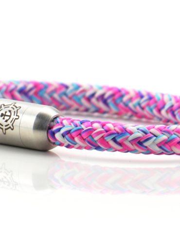 Armband aus Segeltau für Damen in pink von Küstenglück