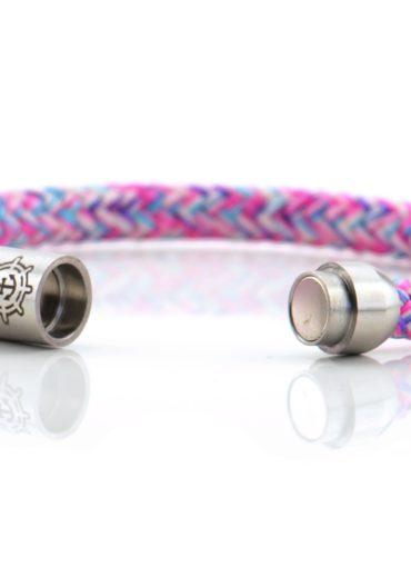 Armband aus Segeltau für Damen in pink blau