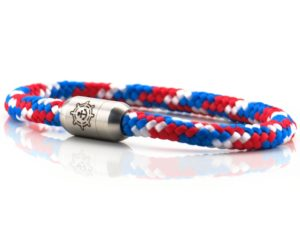 Armband aus Segeltau Damen rot, blau, weiss