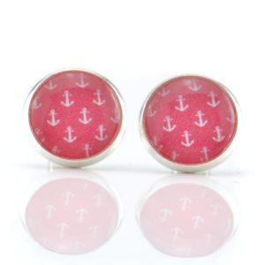 Maritime Ohrringe Erdbeer Anker