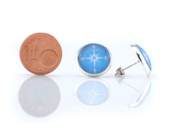 Maritime Ohrringe Kompass