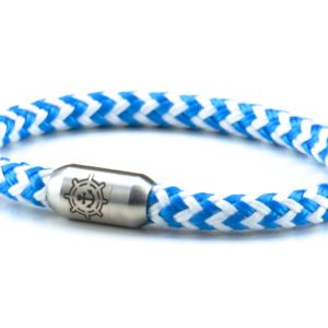 Armband aus Segeltau Damen blau weiß Kuestenglueck