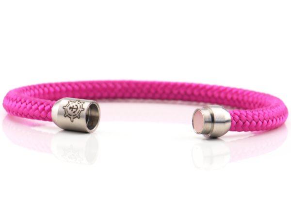 Armband aus Segeltau Damen pink