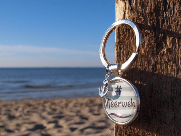 Schlüsselanhänger Spruch, Meer, grün, Küstenglück