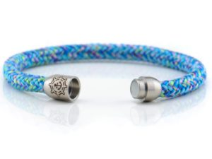 Armband aus Segeltau Damen blau, rosa, grün