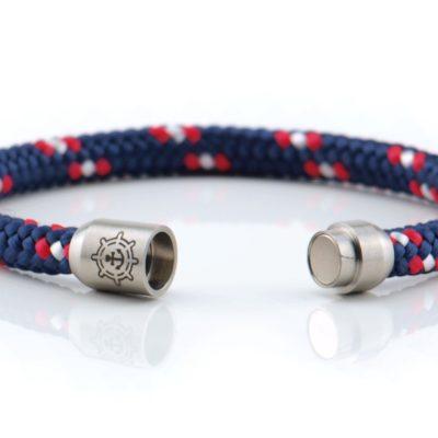 Armband aus Segeltau Damen navy, rot, weiss