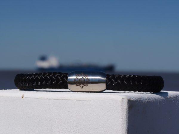 Anker Armband Black Pearl