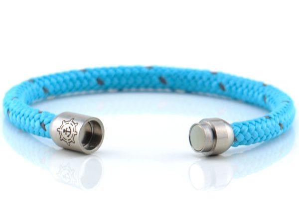 Armband aus Segeltau Damen blau, grau