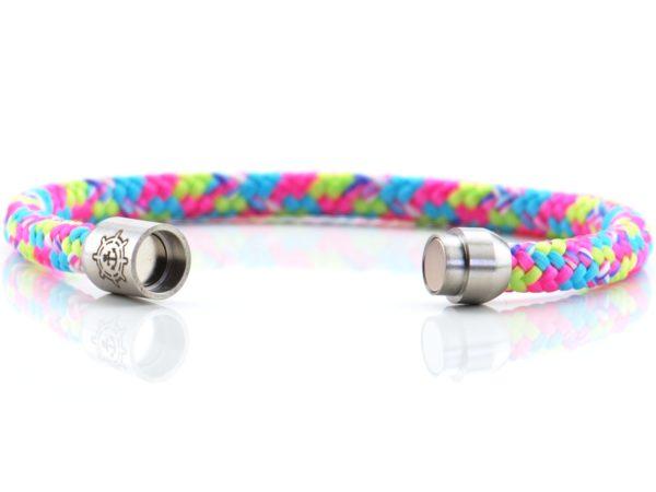 Armband aus Segeltau für Damen pink, blau, neon grün