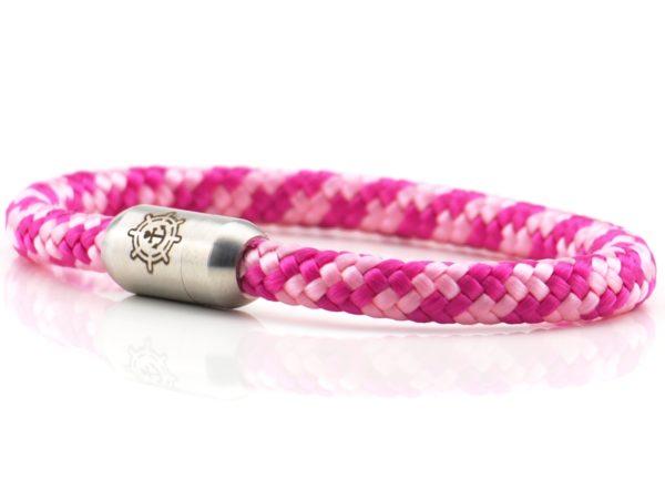 Armband aus Segeltau für Damen pink rosa