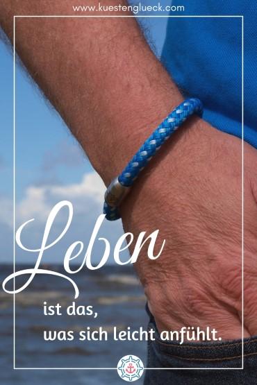 Segeltau Armband Herren blau Küstenglück