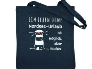 Baumwolltasche Dunkelblau Nordsee
