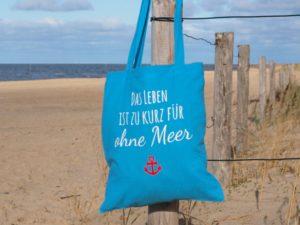 Baumwolltasche-HellblauLeben-Meer