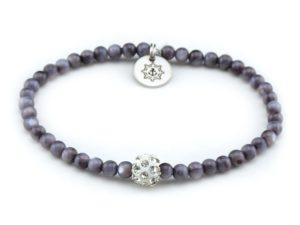 Perlenarmband Damen dunkel grau Küstenglück 1