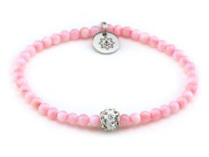 Perlenarmband Damen rosa Küstenglück