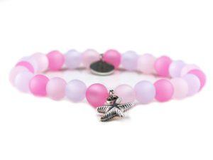 Perlenarmband Damen rose, rosa, grau Küstenglück