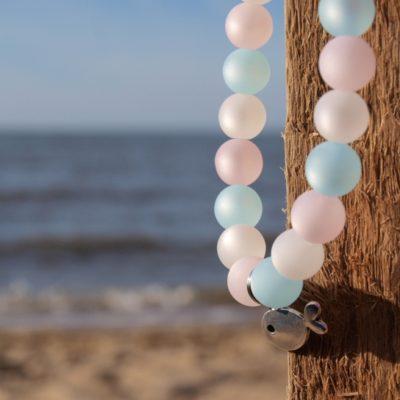 Perlenarmband Damen rose, weiß, blau Küstenglück