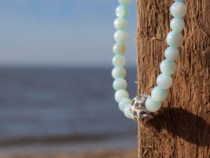 Perlenarmband Damen zartblau Küstenglück1