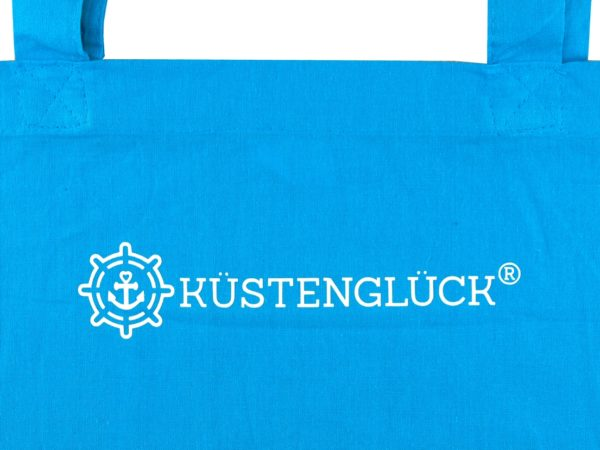 Baumwolltasche-Hellblau-Haus-am-Meer