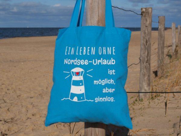 Baumwolltasche-Hellblau-Nordsee