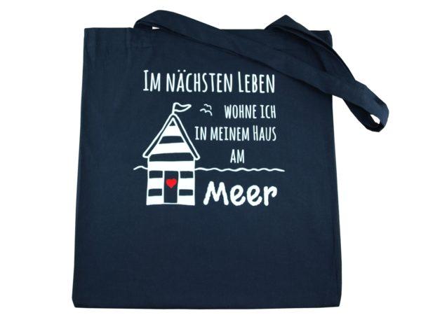 Baumwolltasche-Navy-Haus-am-Meer