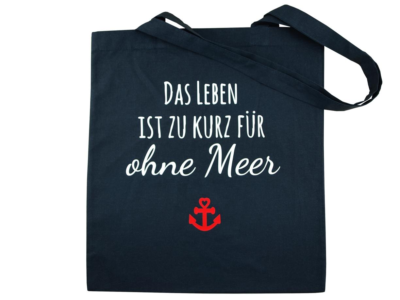 Baumwolltasche-Navy-Leben-Meer