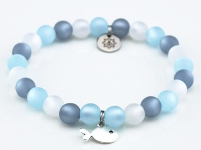 Perlen Armband Damen Strandliebe Küstenglück