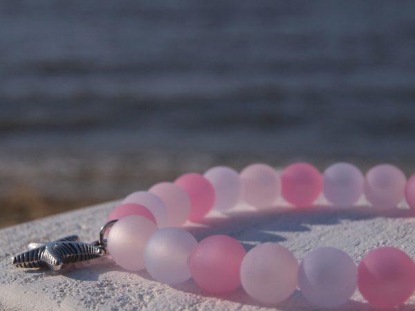 Armband Perlen Damen rosa