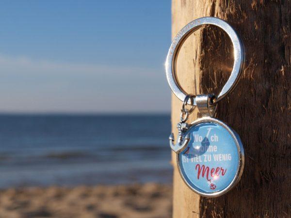 Meer Sprüche, Schlüsselanhänger Spruch, Meer, blau Küstenglück