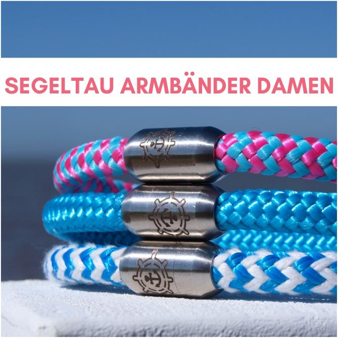 Segeltau Armbänder Damen Küstenglück