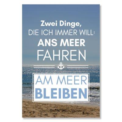 Postkarte XL Spruch Ans Meer Küstenglück