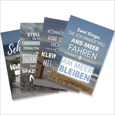 XL-Postkarte 4er Pack Küstenglück