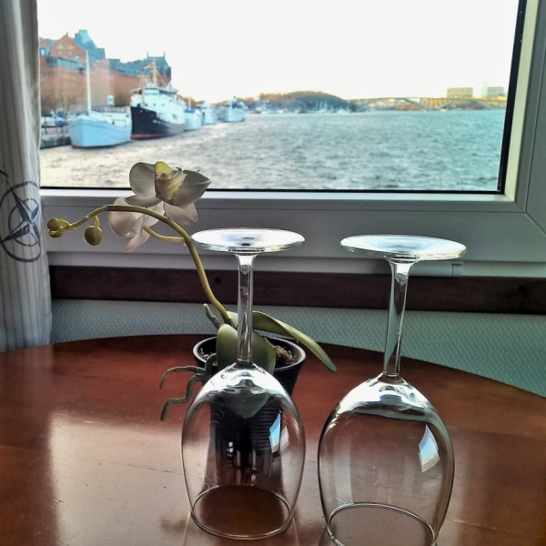 Novemberglück am Meer Küstenglück Schiff