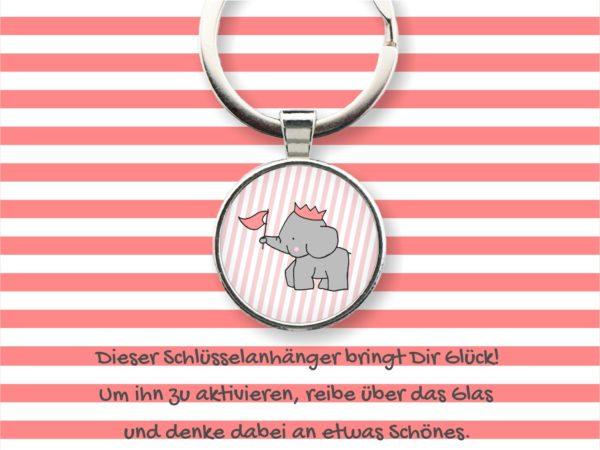 Glücks-Schlüsselanhänger Elefant Küstenglück