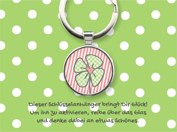 Glücks-Schlüsselanhänger Kleeblatt Küstenglück
