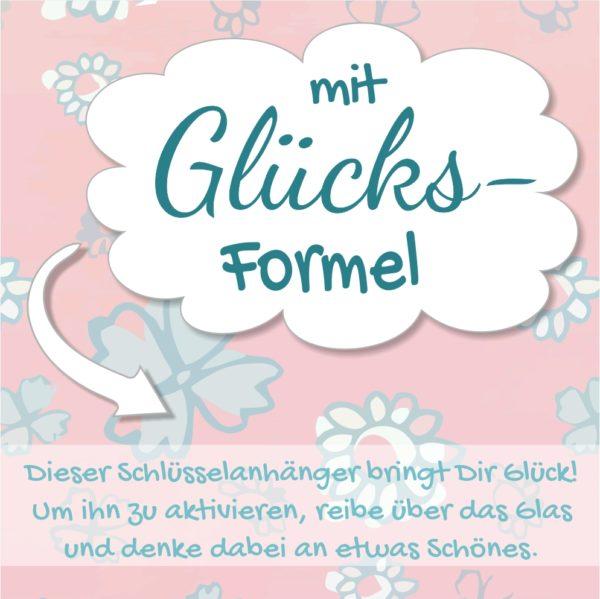 Glücksbringer Schlüsselanhänger Blume Geburtstagsgeschenk Küstenglück
