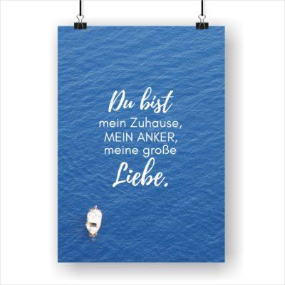 Meer Sprüche Poster Strand Meer Du Bist Küstenglück