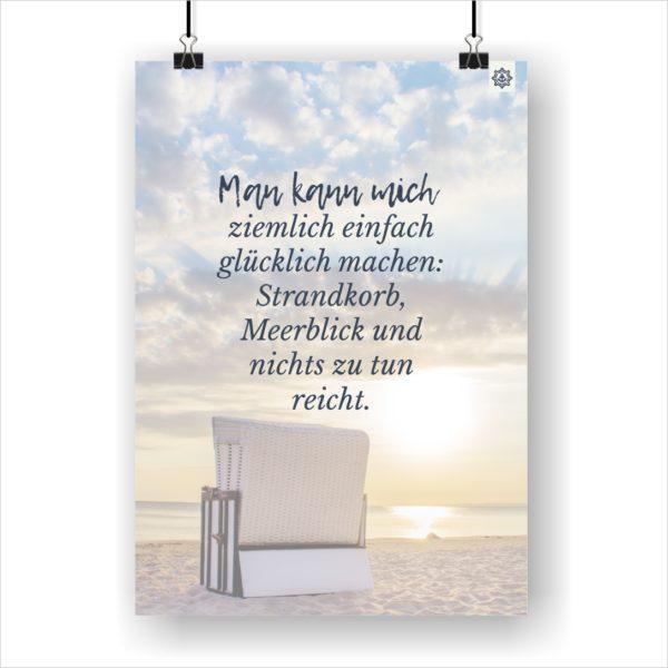 Meer Sprüche Poster Strandkorbglück Küstenglück