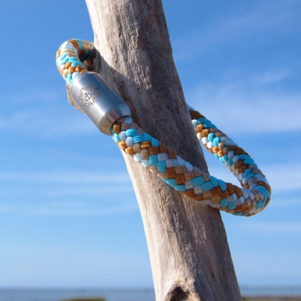 Segeltau Armband Damen Strandperle