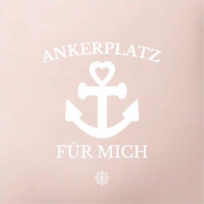 Kissen rosé Ankerplatz Küstenglück