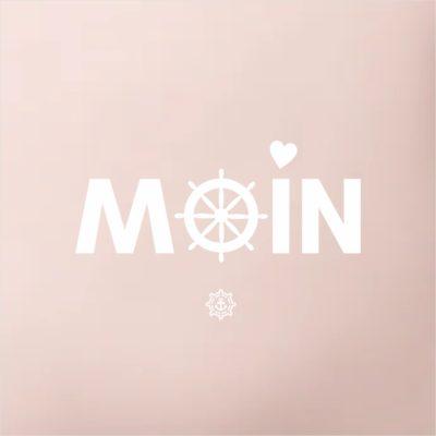 Kissen rosé Moin Küstenglück