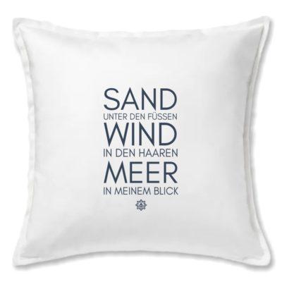 Kissen weiss Sand Wind Meer Küstenglück