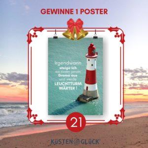 Poster Leuchtturmwärter