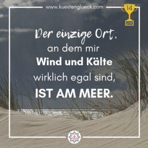 Meer Spruch Award Küstenglück