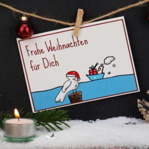 Weihnachtskarte Möwe Küstenglück