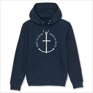 Hoodie navy Wind im Haar Küstenglück