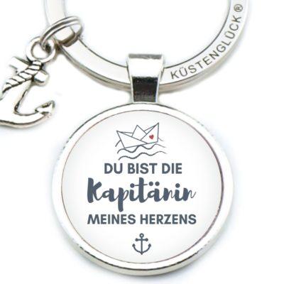 Schlüsselanhänger Spruch Du Bist Die Kapitänin Küstenglück
