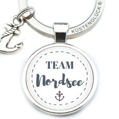 Schlüsselanhänger Team Nordsee Küstenglück weiß